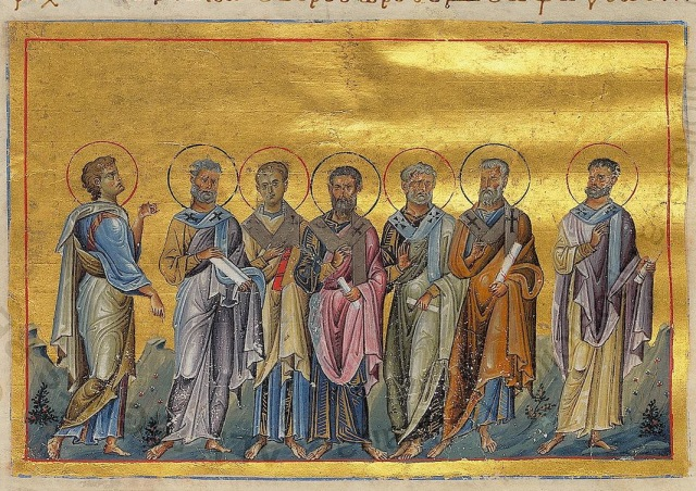 Sosthenes,_Apollo,_Cephas,_Tychicus,_Epaphroditus,_Cæsar_and_Onesiphorus_of_70_disciples_(Menologion_of_Basil_II).jpg